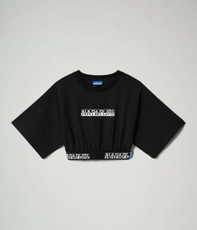 S-BOX CROPPED WIDE BLACK 041